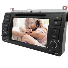 "7""Touch Screen 1 Din In Dash Car DVD Player GPS Radio Stereo for BMW 325 330 E46"