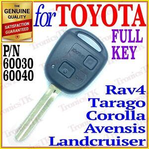 FOR TOYOTA COROLLA, RAV4, AVENSIS, TARAGO, LANDCRUISER REMOTE KEY - 60030