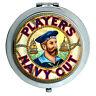 Jugadores Azul Marino Cut Vintage Espejo Compacto