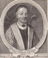 Portrait XVIIIe François Rabelais Alcofribas Nasier Ecrivain Humaniste 1750