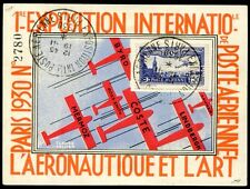 France 1930 pa 6c IEAP sur belle exposition carte (z7602