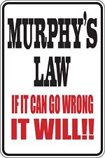 Murphys Law if it can go wrong it Will Funny Novelty Stickers JDM Sma SM1-94