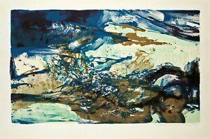 Lithographie Originale - Zao Wou Ki - Zhào Wújí - 赵无极 – 趙無極 - Art Chinois - 1976