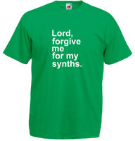 Forgive Me For My Synths Men's Printed T-Shirt Cotton New Size S M L XL Sale Tee