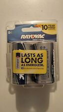 12 1.5V Rayovac D Alkaline Batteries Power Guarantee 2024 Energizer Duracell