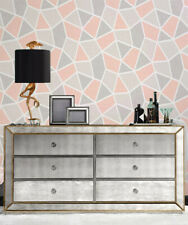 Mirrored Dressing Table 6 Drawer Wide Chest Dresser Bed Console Mirror Furniture