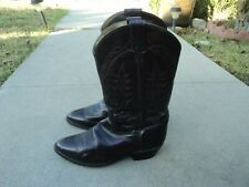 Mens Tony Lama Black Cherry Leather Cowboy Boots VM 2996 in Size 11D