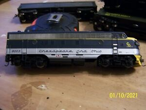 ATHEARN HO SCALE C&O F7A WITH DCC AND SOUND ENGINE # 8003 PRE-OWNED