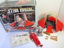 VINTAGE 1977 IDEAL STAR TEAM STAR HAWK SPACESHIP IN BOX WITH ZEROID & KENT TOYS