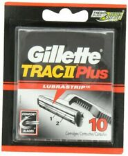 Gillette PR31272 Trac II Plus Refill Razor Cartridges - Pack of 10