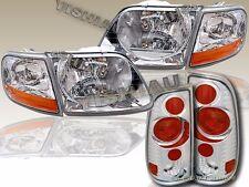 97-03 FORD F150 PICKUP SVT STYLE CHROME HEADLIGHTS + CORNER LIGHTS + TAIL LIGHTS