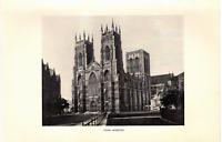 "1903 Antique Art Photo Print York Minster  Dodd Mead Co.10""X 6"""