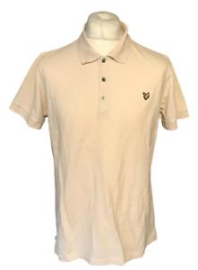 Lyle & Scott Men's Polo T Shirt Beige XL Extra Large S/S