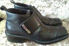 Para Hombre Urbano Soul Informal de Cuero Negro Velcro Altas Zapatos Botas uk7