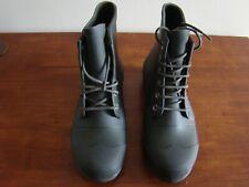 Hunter Original Rubber Lace Up Men Shoes US 10 M Dark Olive Rain Boots