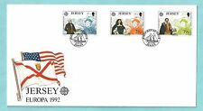 Jersey First Day Cover FDC 1992 Europa Discovery of America USA