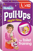 Huggies Pull Ups Night Time Potty Training Pants Girls Size 6 Large 16-23kg (10)