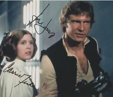 Carrie Fisher & Harrison Ford (1977) Star Wars RARE DUEL-SIGNED RP 8x10 WOW!!!