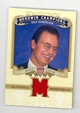 2012 Goodwin Champions Memorabilia Dale Hawerchuk game used jersey insert