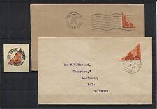 Kanalinseln Guernsey I (2) BS + blanco Brief und II auf Brief (B06489)