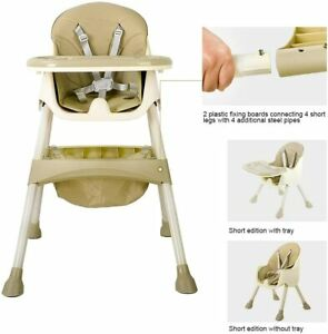 High Chair for Baby and Toddler - with Removable Tray, 5-piont Harness and Adjus