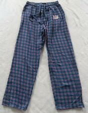 NFL Team Apparel New York Giants Mens Blue Red Plaid Flannel Pajama Pants Small