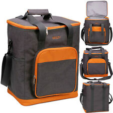 GEEZY 24 Can Large Insulated Cooler Bag Cool Picnic Lunch Hamper Carrier Basket
