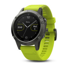 GARMIN fenix 5 Montre GPS multisports Gray avec bracelet jaune 010-01688-02