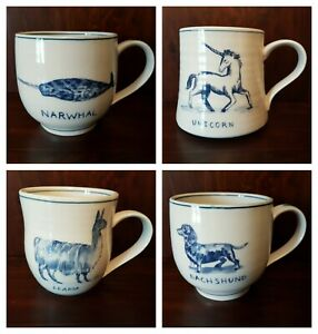 NEW Anthropologie Molly Hatch Animals Mammals Coffee Mug Cup - YOU PICK