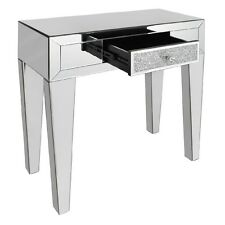 Tuscany Mirrored Dressing Table & Drawer with Swarovski Crystals Furniture