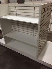 4-Way Slatwall Gondola Merchandise Display Retail Store White Different Sizes