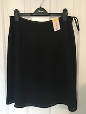 Gorgeous Black Mid Length Mackays Double Layer Sheer Skirt BNWT 16
