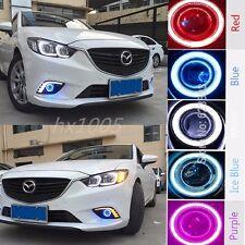 2x LED Daytime Running Fog Lights Lamp DRL For Mazda 6 M6 2014-2016+ Angel Eyes