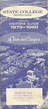 1979 Road Map STATE COLLEGE Pennsylvania Campus Directory Visitors Guide Index