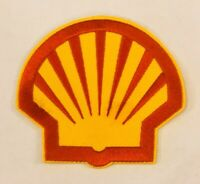 """SHELL Gasoline Patch Embroidered Logo Racing Gas Iron On 3"""" Fuel Shale Uniform"""