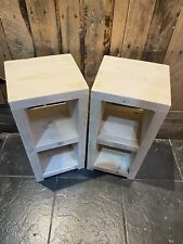 Handmade Bespoke Rustic reclaimed wood Bedside Tables, Side Tables