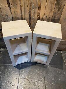 Handmade Bespoke Rustic reclaimed wood Bedside Tables, Side Tables