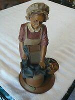 Thomas F. Clark Gnome #54 AUNT JEWELL Washerwoman 1988, 9 1/2 in. Rare 90