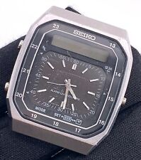 Seiko H357-5070 Ana Digi Vintage 32,5 MM Allarme Cronografo No Lavora For Parts