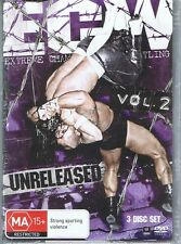 ECW Extreme Championship Wrestling Vol 2 Unreleased (3 x DVD Set) NEW & SEALED