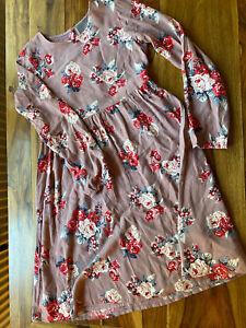 Creamie tolles Kleid Rosen Blumenmuster in Herbstfarben Gr. 158 (38)