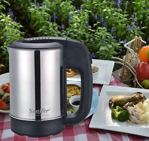 Electric Kettle 500ml Portable Travel Water Boiler 1000 Watt Stainless Steel