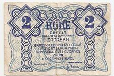 CROATIA 2 KUNE 1942 GRAD ZAGREB F