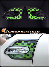Vivid GREEN Side Lamp Scuttles Trim for 2014 up F55 F56 MK3 MINI Cooper/S/ONE