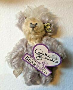 "Annette Funicello Mohair Bear Purple Passion Collectible Bear Co. EUC 6"" no box"