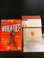 Shaquille O'neal Signed Miami Heat Wheaties Cereal Box JSA COA & Team Letter