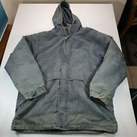 Mens Lacoste Green Corduroy Jacket Size XL Heavy Long Winter Vintage