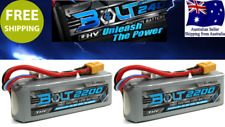 2 pack Turnigy BOLT 2200mAh 3S 65~130C LiHV 11.4v Lipo XT60 Battery RC Plane Car