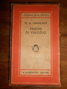 PAGINE DI VIAGGIO - D.H.LAWRENCE - 1943- Mondadori - 2° Ed