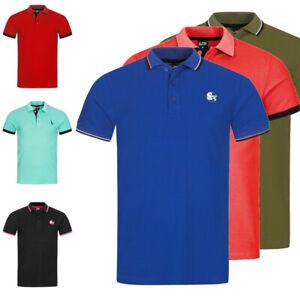 Herren T-Shirt Poloshirt Shirt Kurzarm Printshirt Polo Kurzarm P14ST